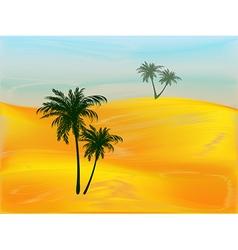 Morning in the desert vector image