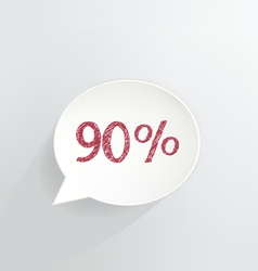 Ninety Percent Discount vector
