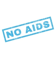 No AIDS Rubber Stamp vector