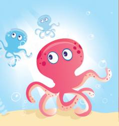 ocean octopus vector image