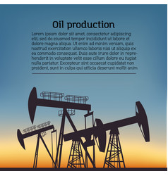 Oil producing rig silouette black pictogram on vector