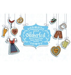 Oktoberfest elements set vector