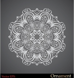 ornamental circle template vector image