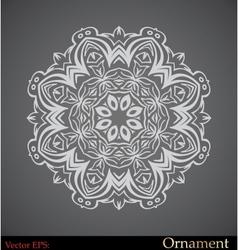 ornamental circle template vector image vector image