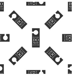 Please do not disturb icon seamless pattern vector