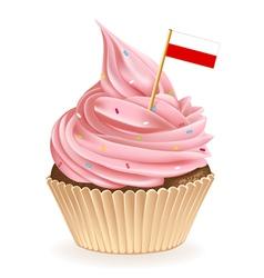 Polish Cupcake vector image