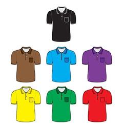 polo shirt outline vector image
