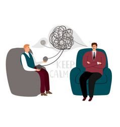 psychotherapy counsel concept vector image