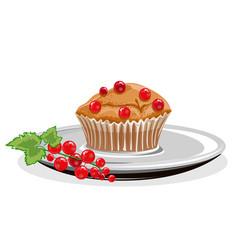 realistic cupcake vector image
