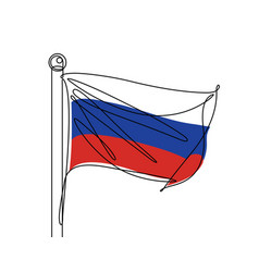 russian flag continuous line vector image
