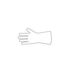 safety hard construction glove flat icon vector image