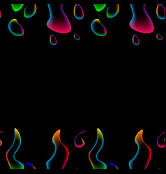 seamless pattern neon abstract colored liquid vector image