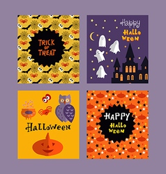 Set of halloween cards4 vector image