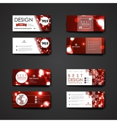 Set of modern design banner template in neon vector