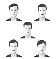 set portraits avatars different men vector image