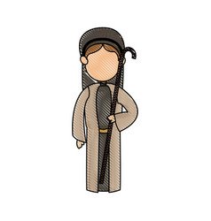 shepherd with stick manger character image vector image