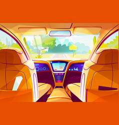 smart car inside interior vector image