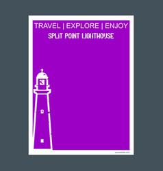 split point lighthouse victoria australia vector image