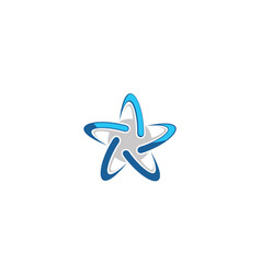 star technology logo icon vector image