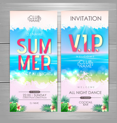 summer party poster design disco party invitation vector image