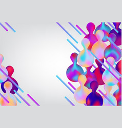 trendy vibrant gradient background template vector image