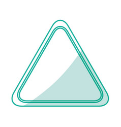 triangle notification signal vector image