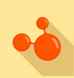 Triple molecule icon flat style vector