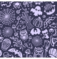 Vintage Halloween seamless vector