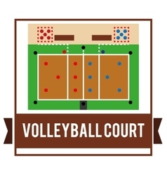 Volleyball icon design vector