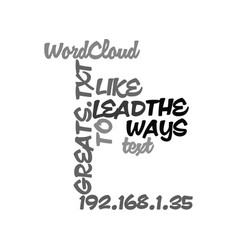 Ways to lead like the greats text word cloud vector