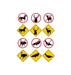 Wildlife Symbols Signs vector image