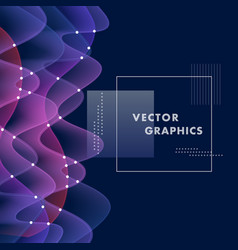 with abstract color waves vector image