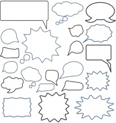 chat signs vector image vector image