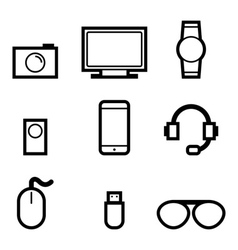 gadget and technology icons vector image