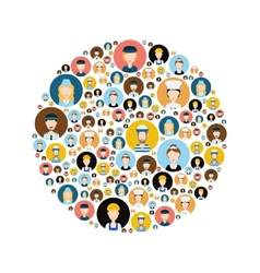 People head icons in circle vector