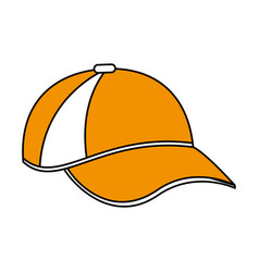 color silhouette cartoon sport cap headwear vector image vector image