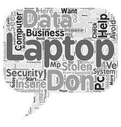 How to keep your laptop out of thieves hands text vector