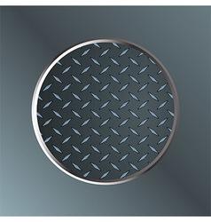 Metallic diamond border on metal plate vector image vector image