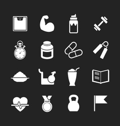 Set icons of fitness vector image