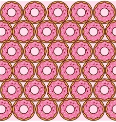 sweet donuts pattern vector image