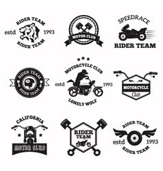 Bikers badges emblems icons vector image