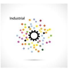 Creative circle abstract logo design templa vector image vector image