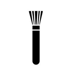 brush cosmetics icon black vector image