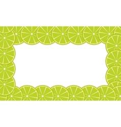 Orange lime frame vector image vector image