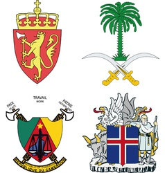 set of arms vector image
