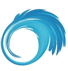Splash blue water logo vector image