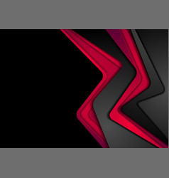 abstract contrast black red corporate background vector image