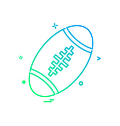 american ball icon design vector image