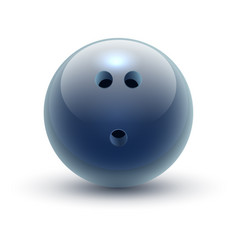 Ball for bowling hard drilled sphere for sport vector