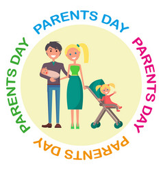 Banner devoted to parent s day with inscription vector